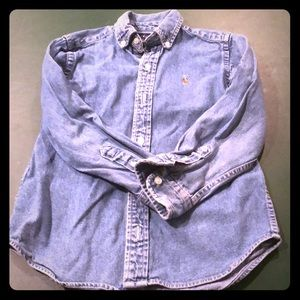 Boys Ralph Lauren denim button down shirt